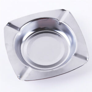 Storage Home Cafe Metal Storage Holder Case Cigar Jar Ashtray Stainless Steel