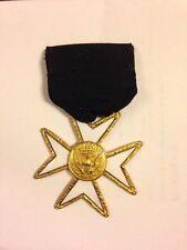 Vintage Masonic Order Of Malta Medal Jewel Lou-Walt Corp.