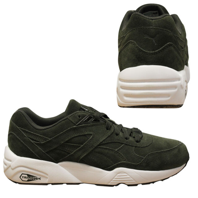 the best attitude 988b6 82394 Puma Trinomic R698 Allover Suede Men Trainers Running Shoes Olive 359392 04  B24D