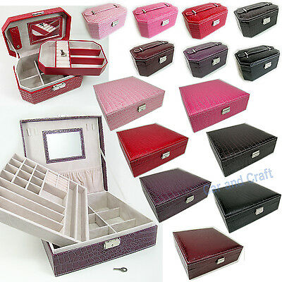 Jewelry Storage Organizer Box Case Accessory Ring Necklace Earring Pendant Carry