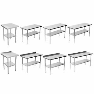 Image Is Loading Commercial Stainless Steel Work Bench Kitchen Catering  Table