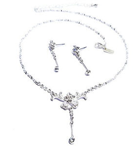 Rhinestone-Necklace-Choker-Earring-Set-Austrian-Crystal