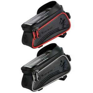 Bicycle-Phone-Bag-Waterproof-MTB-Road-Bike-Front-Tube-Touch-Screen-Bag