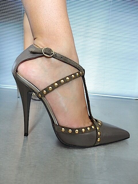 Descuento barato MORI MADE IN ITALY STUDS NEW HIGH HEELS PUMPS SCHUHE SHOES LEATHER BEIGE NUDE 40