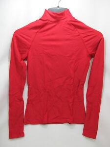 Brine-Women-039-s-Compression-Base-Layer-LS-Mock-Top-Red-Athletic-Lacrosse-NIP