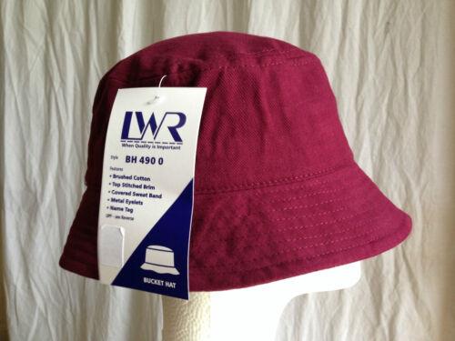 BNWT Boys//Girls Maroon LW Reid Sz L//59cm School Uniform Bucket Hat UPF 50+
