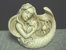 Mermaid Holding Baby Seahorse Resin Plaque Wall Hanging Beach Nautical Decor