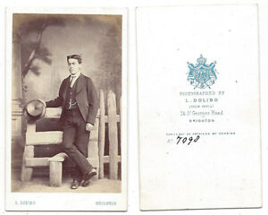 Image Is Loading CDV Victorian Gentleman With Top Hat Carte De