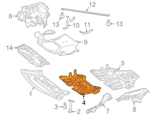 2125241530 Details about  /Genuine Mercedes Engine Splash Shield Center Cover E350 CLS 12-16