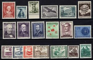 PP135018-AUSTRIA-STAMPS-YEARS-1951-1957-MINT-MNH-MH-CV-193