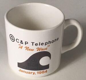 C-amp-p-Telephone-034-une-nouvelle-vague-034-1984-janvier-Publicite-Mug-Tasse-The-EUC