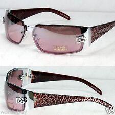 New DG Eyewear Womens Fashion Designer Sunglasses Shade Wrap Silver Light Purple