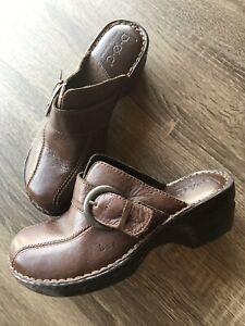 B-O-C-BORN-O-CONCEPT-Womens-Clogs-Shoes-Size-7-M-38-Brown-BC6629-CIE10