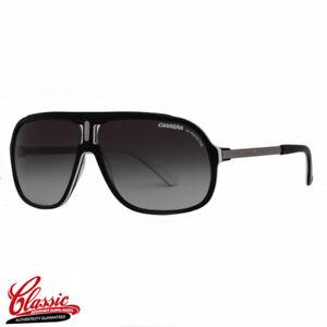 Carrera-40-90D-9O-Gloss-Black-Frame-Grey-Gradient-Lens-Mens-Aviator-Sunglasses