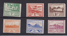JERSEY MNH UMM STAMP SET 1943-1944 SG 3-8 PICTORIAL ISSUE BLAMPIED VIEWS
