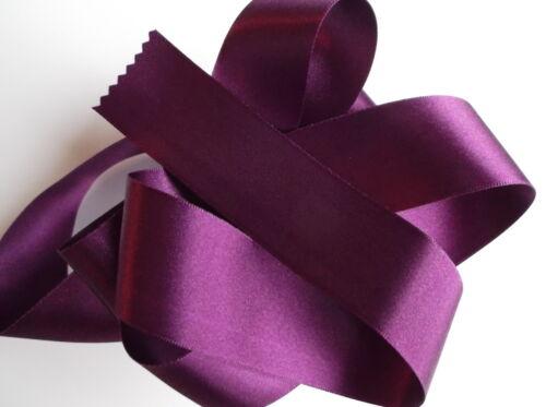 Double Faced Satin Ribbon Berisfords Plum Aubergine Colour 49 /& Odd lengths