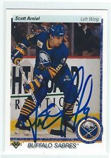 Scott Arniel Signed 1990/91 Upper Deck Card #397