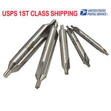 5piece HSS 60° Center Drill Countersink Pilot Bit Set 1mm 1.5mm 2.5mm 3.15mm 5mm