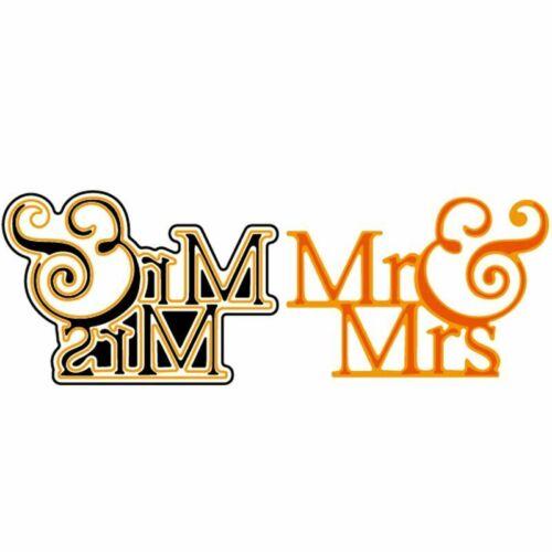 Mr Mrs Words Metal Cutting Dies Wedding Stencil Scrapbooking Embossing Die Cuts