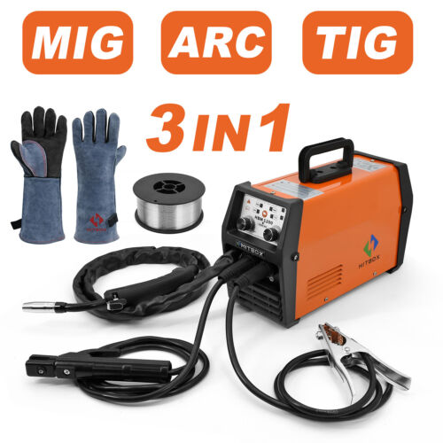 MIG LIFT TIG Welder ARC MMA Flux Core Wire Gasless MAG MIG 220V IGBT MIG Welder