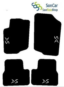 4 block 4 decori CITROEN DS3 TAPPETI AUTO tappetini SU MISURA