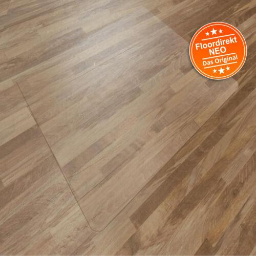 Floordirekt NEO Bodenschutzmatte für Hartböden /& Teppichböden transparent Vinyl