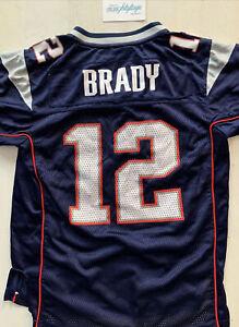 New England Patriots Tom Brady Jersey Youth Large 14 16 NFL Reebok ...