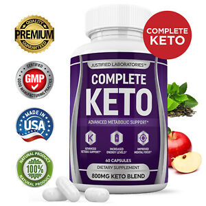 Complete Keto Pills Boost Weight Loss Diet Pills BHB Ketogenic Supplement