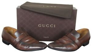 Gucci-Brown-Leather-Mens-Loafers-Dress-Shoes-Interlocking-GG-Logo-9-Betis