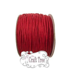 Wax Cotton Cord Twine String 1mm - 1, 5, 10, 20 30  Metre -- Various Colours