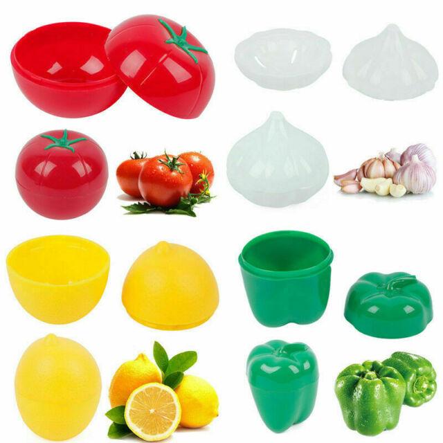 Kitchen Vegetable Fruits Onion Shaped Plastic Fresh Storage Box Case.