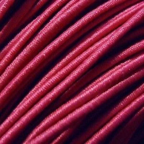 15-25 Mtrs 1mm Fabric Elastic Thread Inside Elastic Outside Cotton