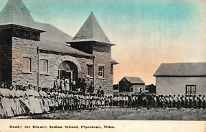 Postcard-Ready-for-Dinner-at-Indian-School-in-Pipestone-Minnesota-117399