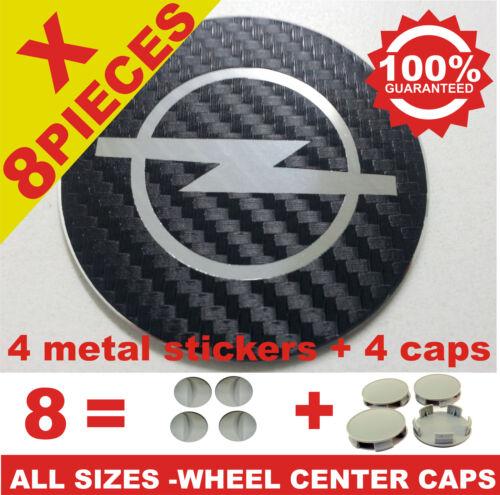 tapas llantas  wheel center caps 4 METAL STICKERS  4 CAPS OPEL CARBON 1