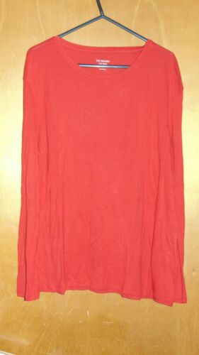 M/&S Crew Neck Top L//Sleeved Relaxed Soft Touch 8 10 12 22 Bright Red BNWT