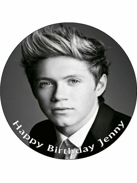 """7.5"""" Niall Horan One Direction  Personalised Edible PRE CUT ICING Cake Topper"""