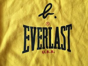 Everlast Boxing Shirt Rare Yellow Medium