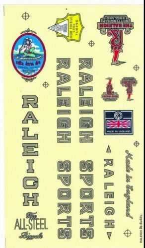 Decals Vintage Bike Bicycle Cycling Logo Sticker RALEIGH SPORTS Printed England