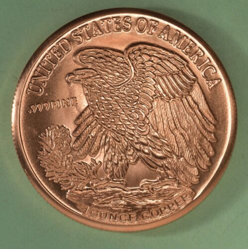 Standing Liberty Design One Ounce Copper Round