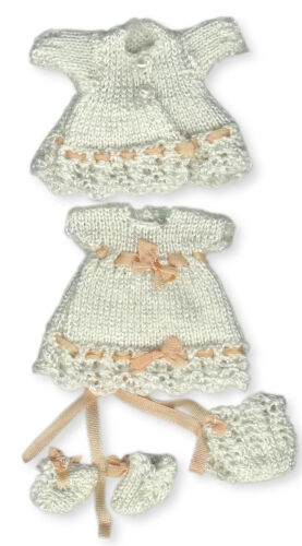 SET 2 fits 2 inch doll Knitting Patterns for 1:12 scale dollhouse baby doll