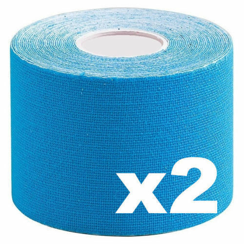 2 x Remedy Cure Tape Sport Elastic Physiotherapy Muscle Injury Blue Trendy