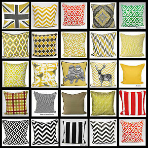 New-100-Cotton-Cushion-Cover-Huge-Range-Of-Colors-Design-18X18-034-And-20X20-034-Size