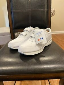 Propet-Walking-Shoes-White-Men-039-s-Orthopedic-Life-Walker-Strap-M3705-Size-123E
