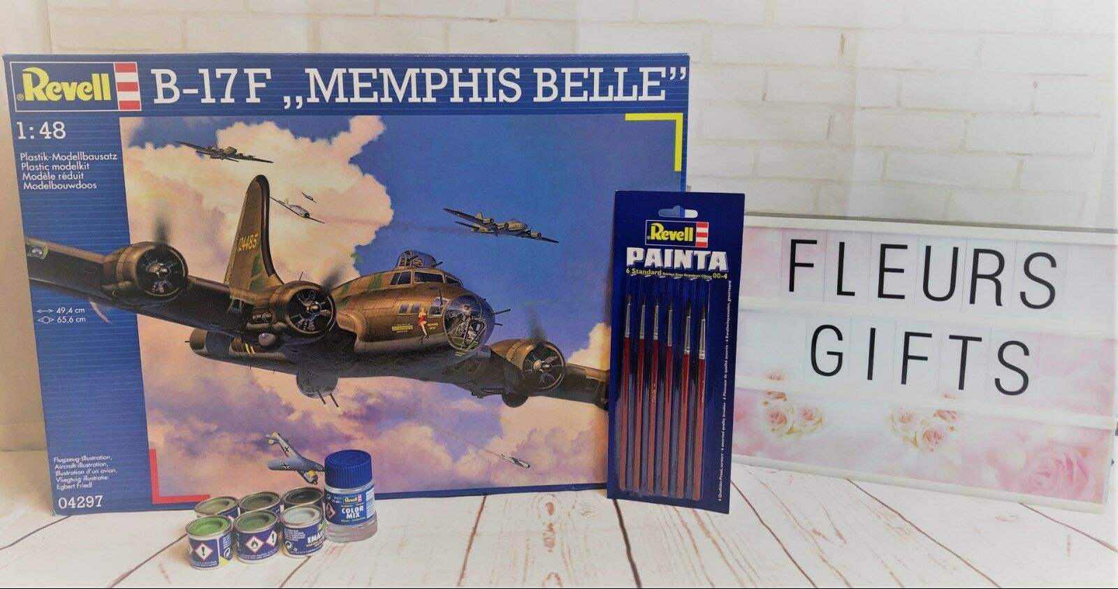 Revell Model B-17F  Memphis Belle  Level 5 1 48 Model Kit 04297 Paints