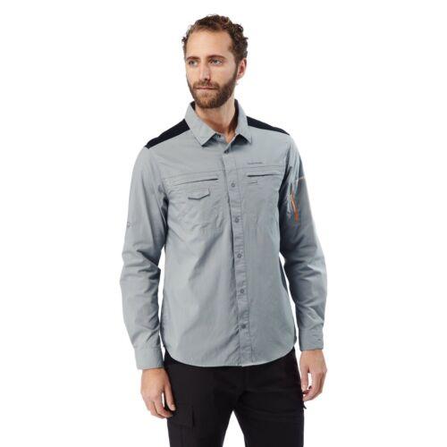 Craghoppers aventura de descubrimiento para hombre camisa de mangas largas en Gris CMS559