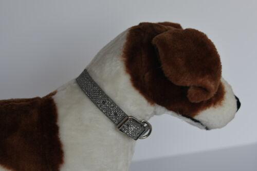Silver,White,Gun Metal Dog Glitter Collar Red S,M,L.