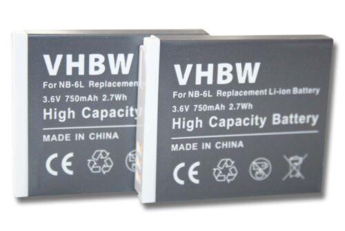 2st original VHBW ® batteria per 750mah per Canon Digital IXUS 25is 85is 95is HS NB