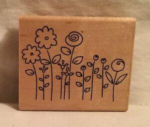 JRL-Design-Flower-Garden-Rubber-Stamp-Wood