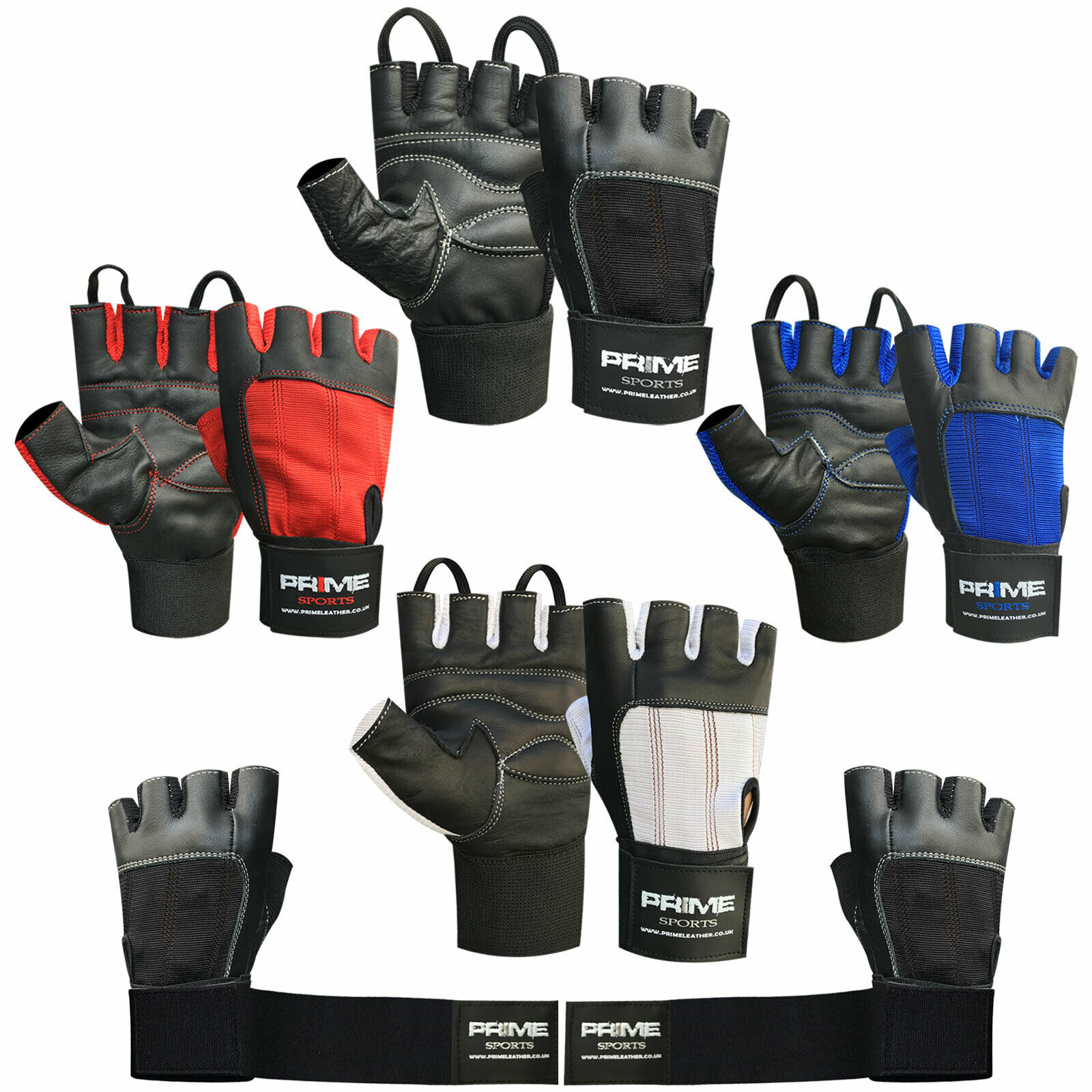 Half Finger Weight Lifting GYM Fitness Workout Training Real Leather Gloves 115