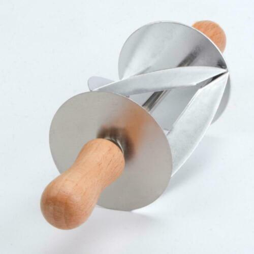 Stainless Steel Dough Croissant Rolling Pin Roller DIY Tool Baking Cutter N6L9